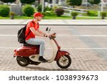 young guy working as... | Shutterstock . vector #1038939673