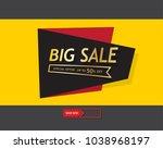 big sale template banner ... | Shutterstock .eps vector #1038968197