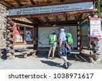 Small photo of Ridnaun Valley in South Tyrol,Italy-may 27,2017: visitors in front of the entrance to the famous Monteneve mines area. The visitors can experience first-hand the hard work the miners had to endure.