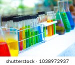 colorful chemical substance in... | Shutterstock . vector #1038972937