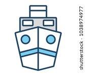 ship vector illustration | Shutterstock .eps vector #1038974977