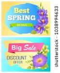 best spring big sale... | Shutterstock .eps vector #1038994633