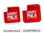 dairy milk stickers | Shutterstock .eps vector #1038998923