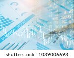 stock exchange or trading graph ... | Shutterstock . vector #1039006693