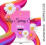 spring sale banner design with... | Shutterstock .eps vector #1039011133