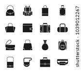 bags silhouettes icons set | Shutterstock .eps vector #1039012267