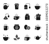 tea silhouettes icons set | Shutterstock .eps vector #1039012273