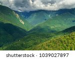 aerial view on caucasus... | Shutterstock . vector #1039027897