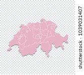 switzerland map   high detailed ... | Shutterstock .eps vector #1039031407