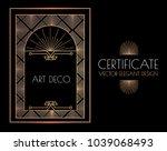 elegant vintage card  flyer ... | Shutterstock .eps vector #1039068493