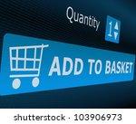 online shopping   add to basket ... | Shutterstock . vector #103906973
