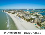 aerial drone image of hotels... | Shutterstock . vector #1039073683