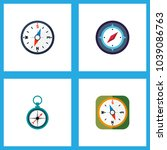 icon flat orientation set of... | Shutterstock . vector #1039086763