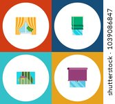 icon flat frame set of glazing  ... | Shutterstock .eps vector #1039086847