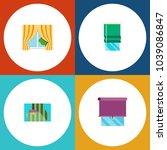 icon flat frame set of glazing  ...   Shutterstock .eps vector #1039086847