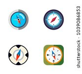 icon flat direction set of... | Shutterstock .eps vector #1039086853