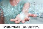 businesswoman on blurred... | Shutterstock . vector #1039096993