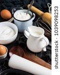 preparation baking kitchen... | Shutterstock . vector #1039098253