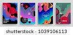 artistic poster templates.... | Shutterstock .eps vector #1039106113