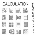 calculation related vector icon ... | Shutterstock .eps vector #1039114873