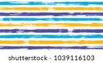 bold watercolor brush stripes... | Shutterstock .eps vector #1039116103