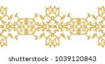 seamless pattern. golden... | Shutterstock . vector #1039120843