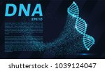 dna from the particles.... | Shutterstock .eps vector #1039124047