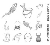 fishing and rest outline icons...   Shutterstock .eps vector #1039130443