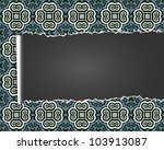 vintage background with ripped ... | Shutterstock . vector #103913087