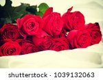 beautiful red roses | Shutterstock . vector #1039132063