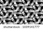 3d wall interlocking chrome... | Shutterstock . vector #1039141777