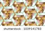interlocking stripes wooden and ... | Shutterstock . vector #1039141783