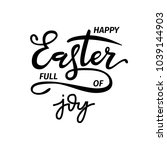 hand sketched easter text as... | Shutterstock .eps vector #1039144903