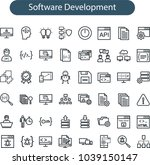 set of vector web development... | Shutterstock .eps vector #1039150147