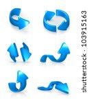 blue arrows set  vector | Shutterstock .eps vector #103915163