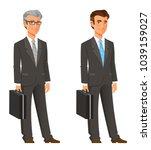 cartoon businessman in grey suit   Shutterstock .eps vector #1039159027