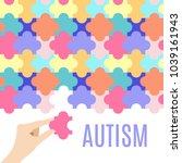 autism awareness vector poster... | Shutterstock .eps vector #1039161943