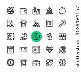 money  banking line icons set.... | Shutterstock .eps vector #1039164157