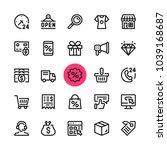 e commerce  online shopping ... | Shutterstock .eps vector #1039168687