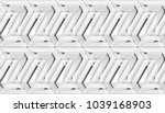 3d wall white panels with... | Shutterstock . vector #1039168903