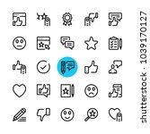 testimonials  feedback ... | Shutterstock .eps vector #1039170127