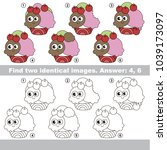 the educational kid matching... | Shutterstock .eps vector #1039173097