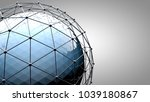 wireframe connecting sphere.... | Shutterstock . vector #1039180867