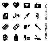 solid vector icon set   heart... | Shutterstock .eps vector #1039183597
