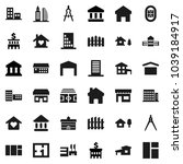 flat vector icon set  ... | Shutterstock .eps vector #1039184917