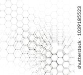 chemistry 3d pattern  hexagonal ... | Shutterstock . vector #1039185523