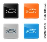web icons of car silhouette.... | Shutterstock .eps vector #1039186063