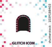 tunnel  glitch effect vector... | Shutterstock .eps vector #1039188403