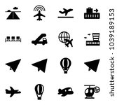 solid vector icon set   runway... | Shutterstock .eps vector #1039189153