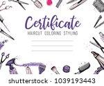 hair cut  hairdressing business ... | Shutterstock .eps vector #1039193443
